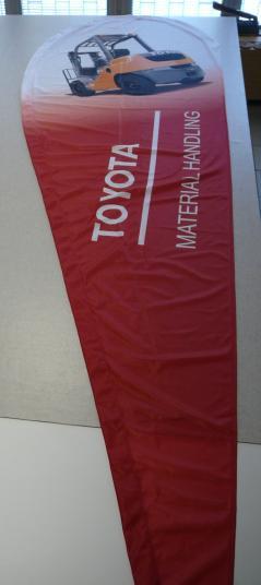 Zászló - hurkolt polyester #7